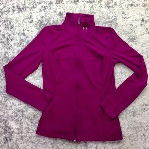 UNDER ARMOR Pink Full Zip Jacket
